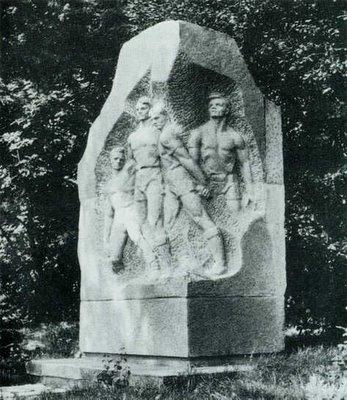 Monumento en memoria de los jugadores del FC Start